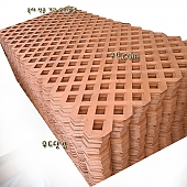 PVC래티스-브라운[Regular] 2400×1200×4[70*70]