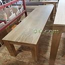화이트오크원목가구[Oak]-벤취의자 1550×350×420