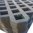 PVC래티스-블랙 [Regular] 2400×1200×4[70×70]