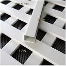PVC 프리미엄래티스-화이트 U캡 2440×37×16.5